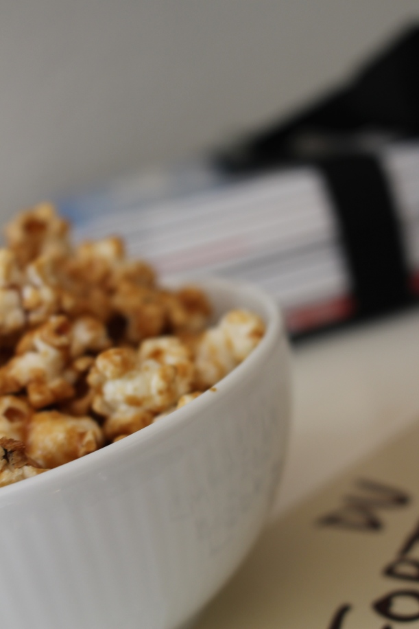 Karanelliseret popcorn